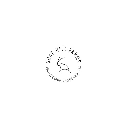 "Logotype for the ""Goat Hill Farms"""