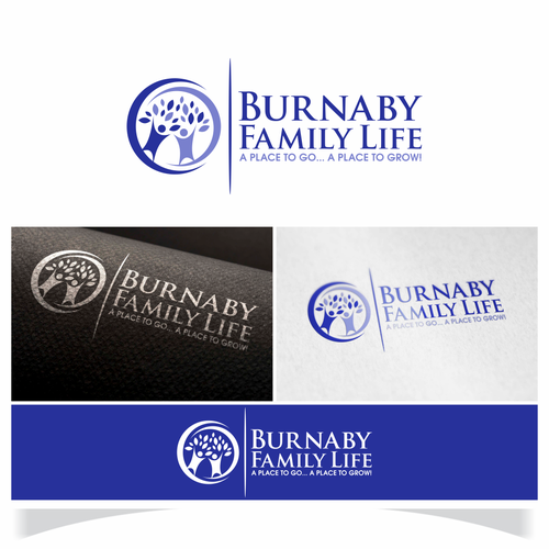 45th anniversary for Burnaby Family Life logo
