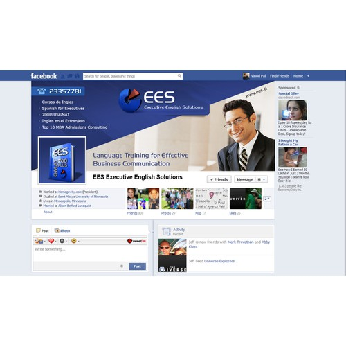 Attractive Facebook design for executive training firm