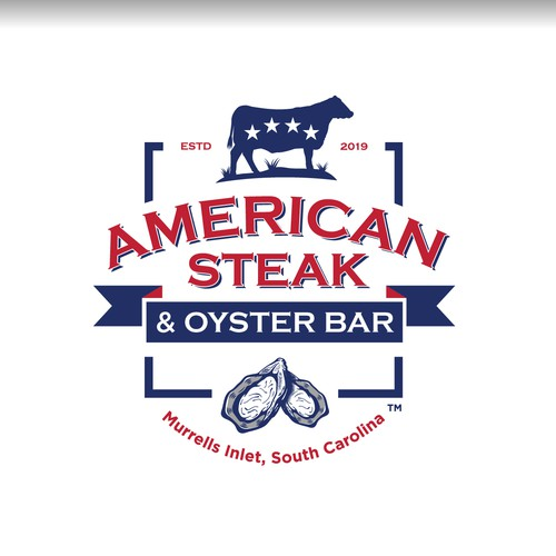Bold Logo for an American Steak and Oyster Bar Restaurant