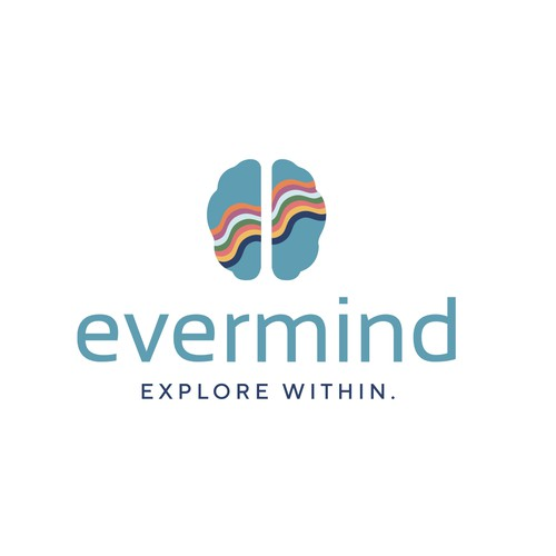 Modern and elegant logo for a psychedelic assisted mental health company