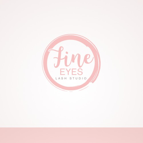 Elegant & feminine logo design for lash studio