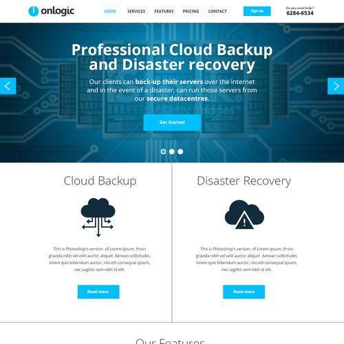 Create a smart, professional website for our disaster recovery business.