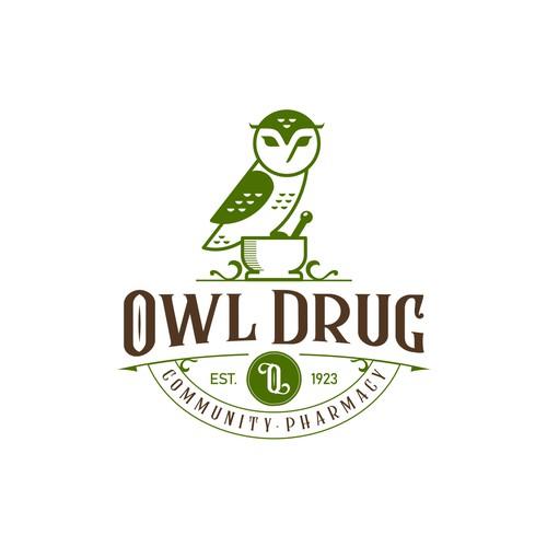 Owl Drug logo design