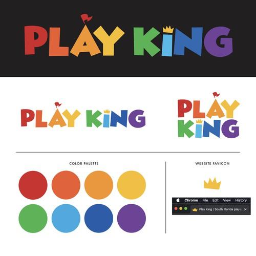 "Fun, Bold, Playful Logo for ""Play King"" brand"