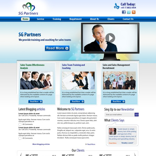 SG Partners needs a new website design