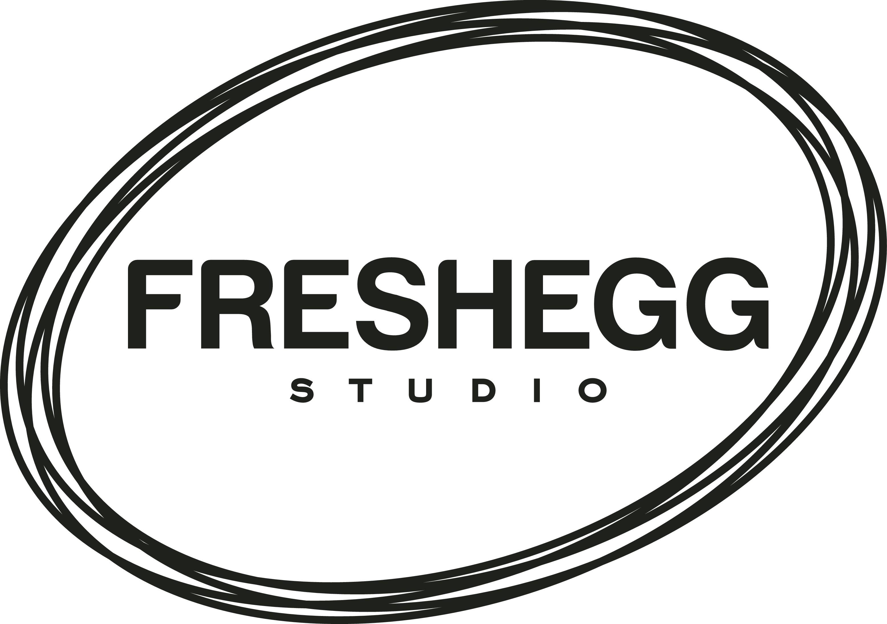 FRESH FUN FRIENDLY COOL & SIMPLE logo for creative cowork studio & e-comm biz