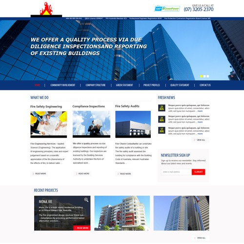website design for Fire Check Consultants