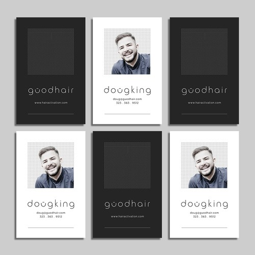 Business card design for guodhair