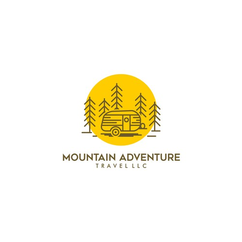 Monoline Logo for Mountain Travel