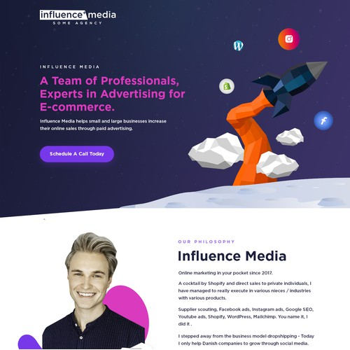 1-1 project for Influence Media