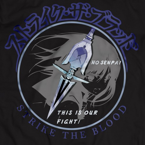 Bold T-Shirt Design for Anime Series