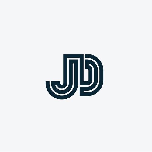 Bold JD letters logo