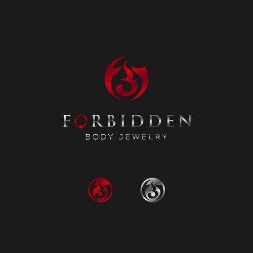 Tribal Letter Logo for Forbidden
