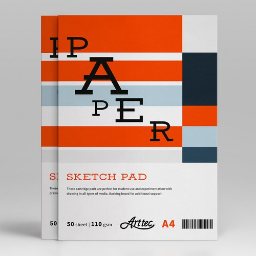 Cover Design for Arttec Fine Art Pads