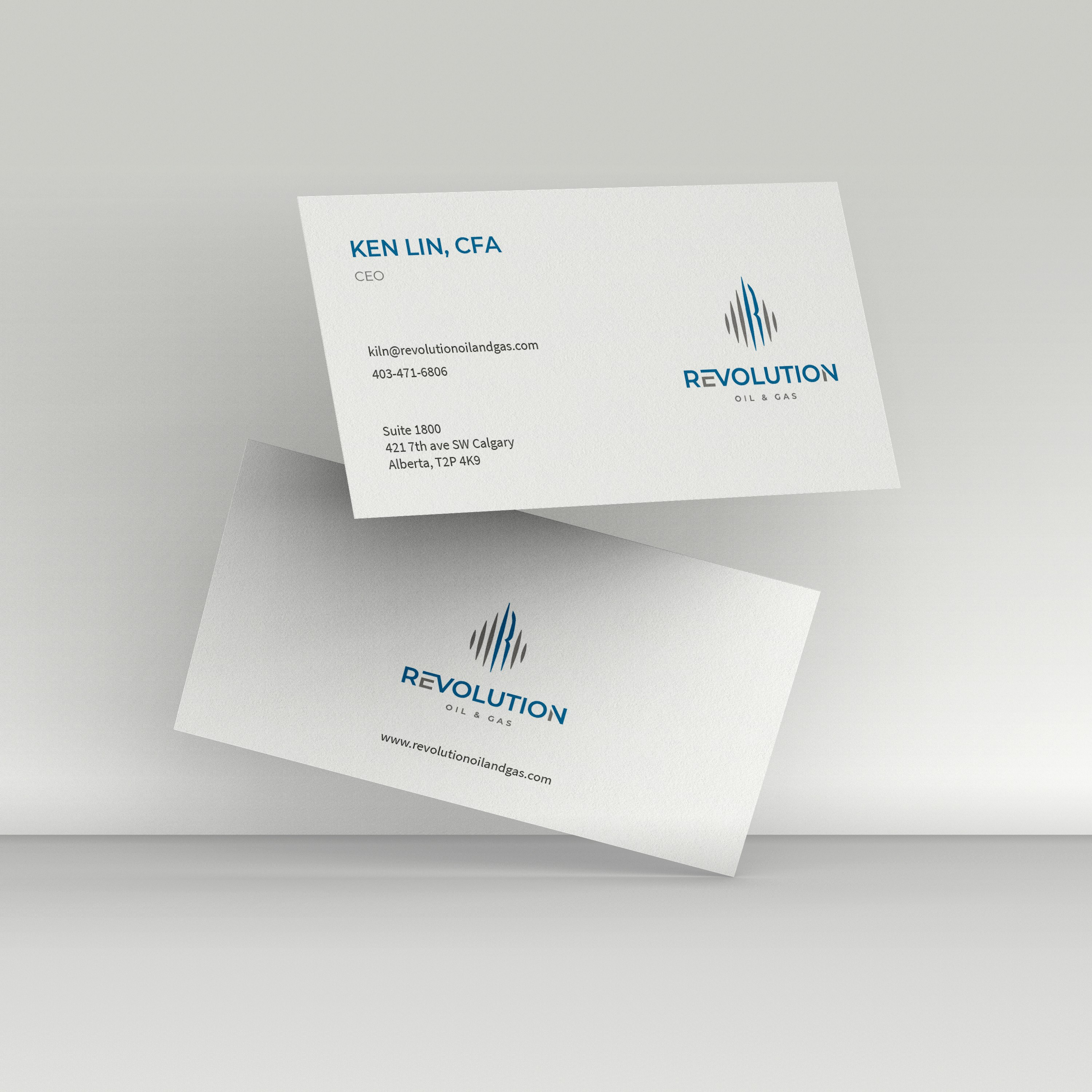 Business Card design for Revolution Oil & Gas