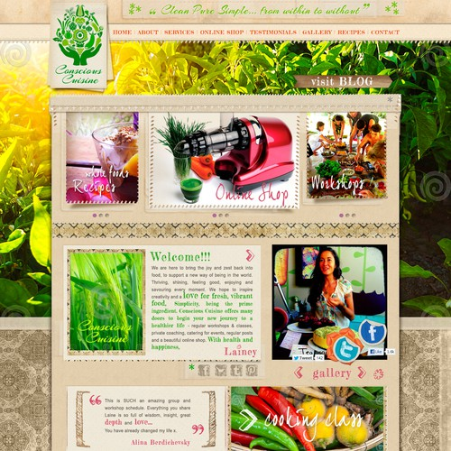 New website design wanted for Conscious Cuisine
