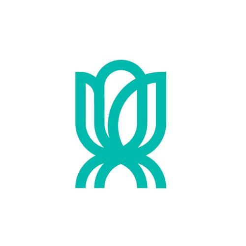Minimal, monoline mark for a fitness apparel company