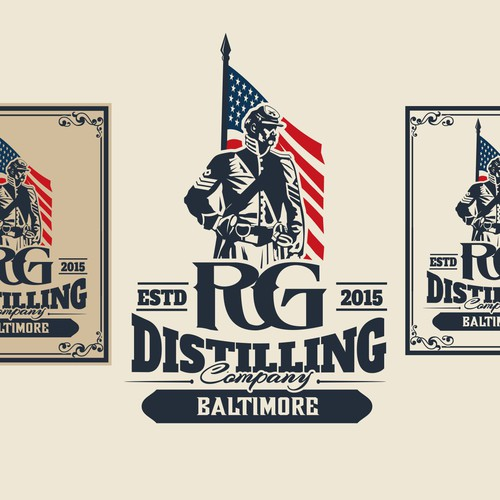 Design a classic logo for one of Baltimore's first distilleries in decades