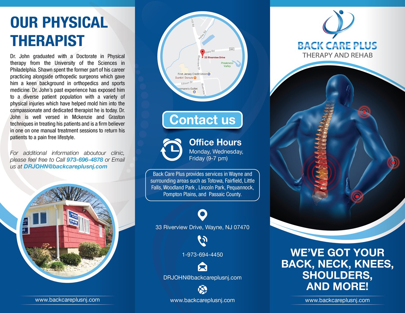 Brochure for physical therapy office