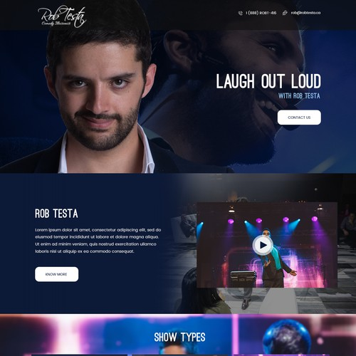 Homepage Design for a Comedy Magician