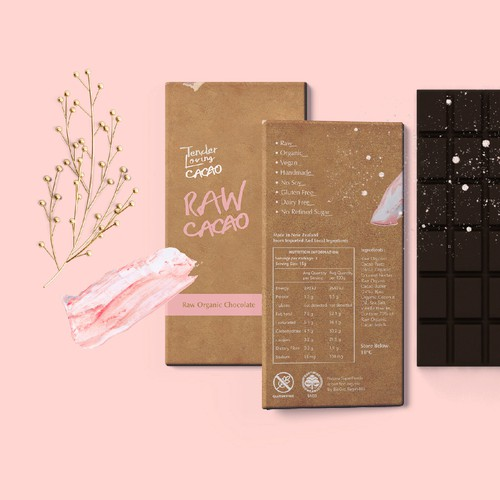 packaging concept for Tender Loving CACAO
