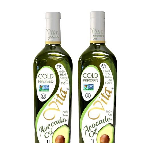 avocado label design