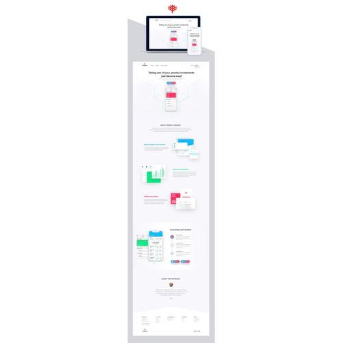 Pensa app web design