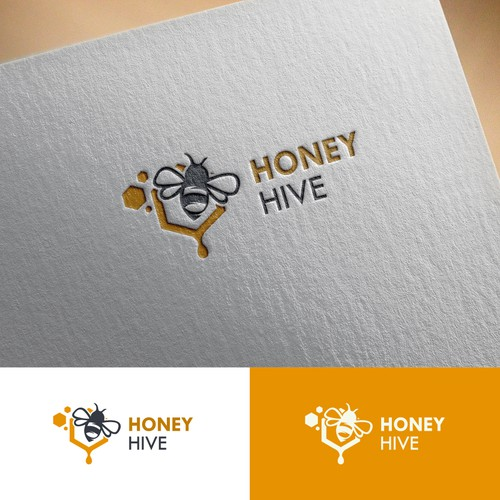 Creative a CAPTIVATING logo for a premium HONEY brand
