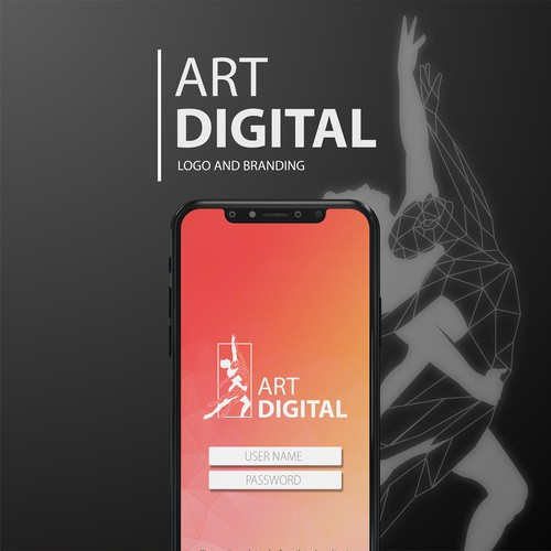 Classic modern logo for Art Digital o