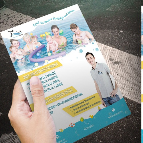 Swimming academy flyer