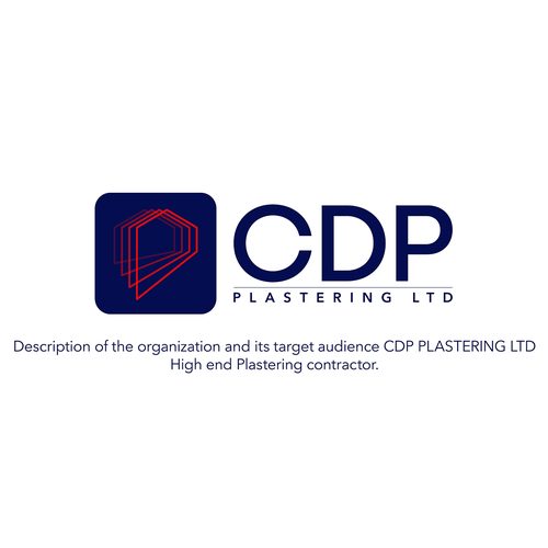 Logo for CDP high plastering contractor