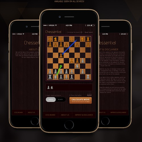 Chess App for desktop and mobile devices