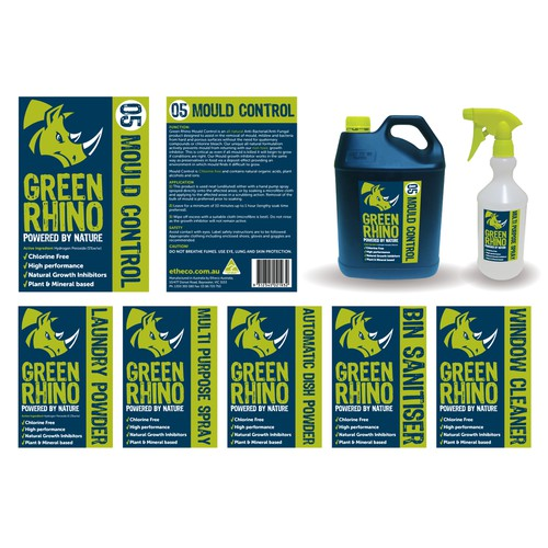 Help Green Rhino with a new product label