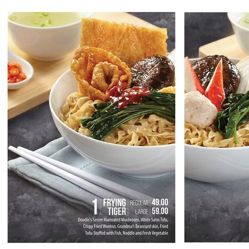 Menu Board Design for Noodle Bar