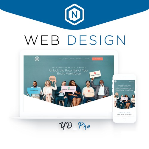 Website design for Employee Engagement Management system