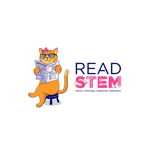Create Me A Technology Logo For 'STEM' News