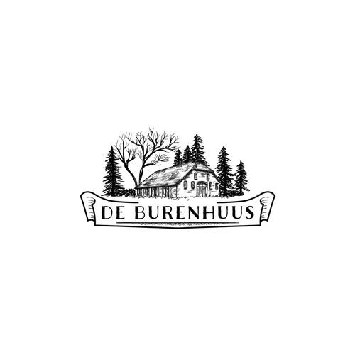 Vintage guest house logo