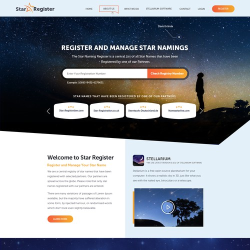 website design for star registration