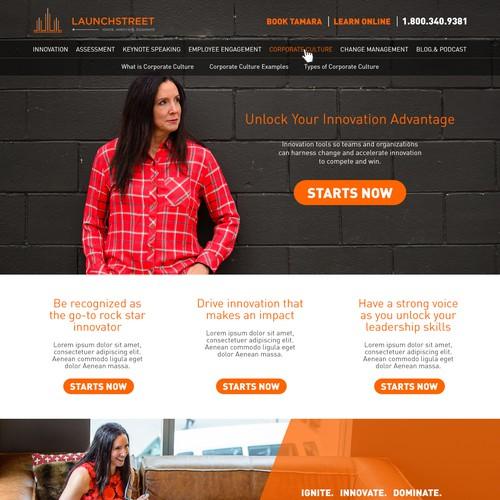 Business innovation website design