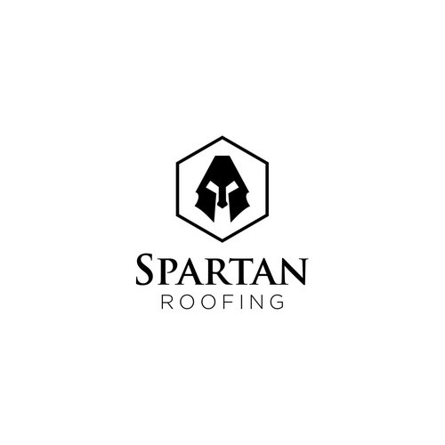 Seeking MASCULINE Spartan Logo for Roofing & Restoration Company