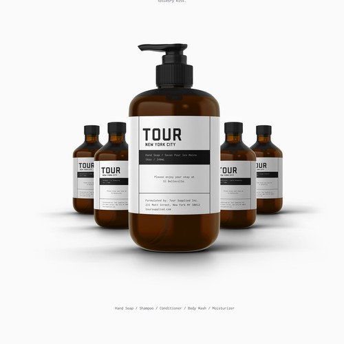 Product Label for Tour Supplied