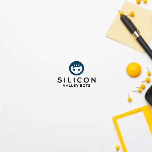 logo concept for silicon valley bots