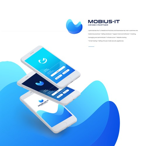 mobius IT logo concepts and branding presentation