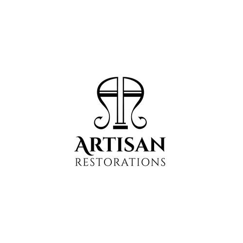 Stylish logo for restorations