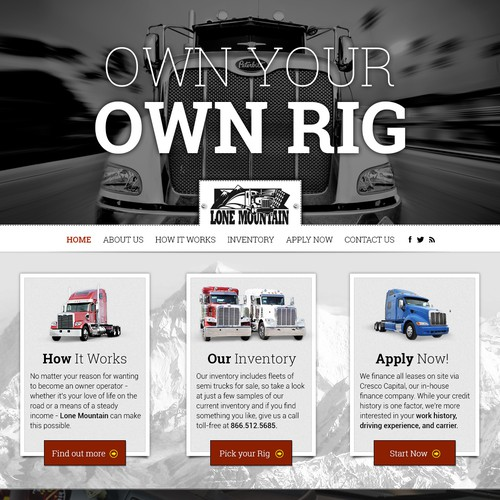Design new website for Lone Mountain Truck Leasing