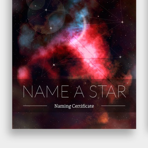 4-page PDF template to name stars