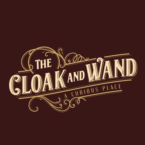 Vintage wizard theme logo