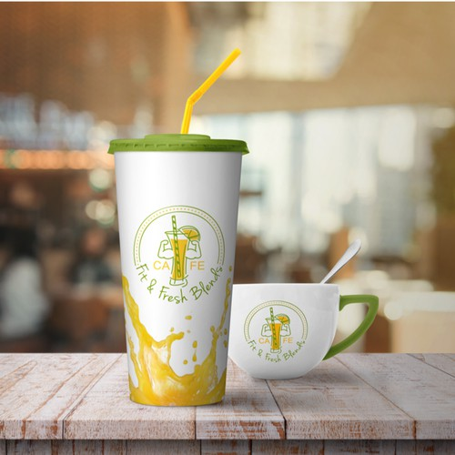Juice and Smoothies bar logo