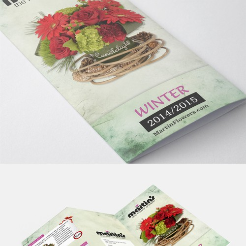 Design an elegant and upscale brochure for Martin's, the Flower People